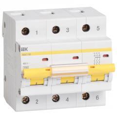 Автоматический выключатель ВА 47-100 3Р 10А 10 кА