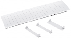 Заглушка 12 модулей белая, Арт. YZM10-12-K01