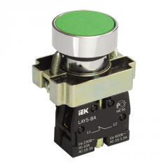 Кнопка управления LAY5-BA31 без подсветки зеленая