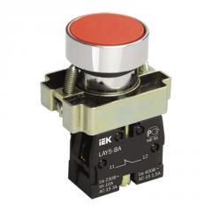 Кнопка управления LAY5-BA42 без подсветки красная
