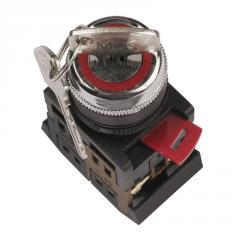 Переключатель АKS-22 черный с ключом на 2