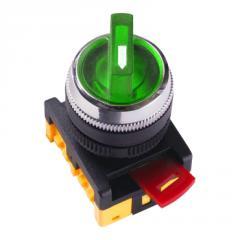 Переключатель АNС-22-2 на 2 фикс.полож.зеленый