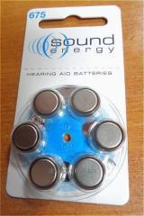 Батарейки для слухового апарату, тип 675