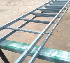 Metalli vaiheet portaita ilman hitsit