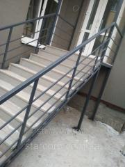 Metal railings without welds for external stairs