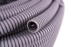 Corrugated pipe d 16mm is not flammable gray