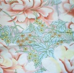 Fabrics from natural fibers. The tic is matratsny