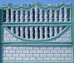Заборы декоративные из бетона Бровары, заборы
