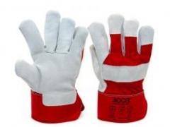 Перчатки 3003 SPLIT комбинированные хлопок/спилок CE/SG-3 (63045)