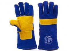 Перчатки 3003 сварщика (краги) WELDER LUX с подкладом CE/SFL/BG (63042)
