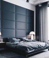 Мягкие стеновые панели 3D ромбы, квадраты и полосы