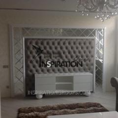 Мягкие стеновые панели с пуговицей