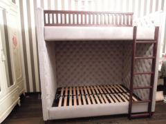 Детская двухъярусная кровать на 4 и спальных места