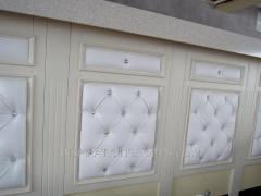 Отделка корпусной мебели мягкими панелями