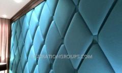 Мягкие стенвые панели Капитоне с пуговицами