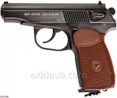 Пистолет ИжМех МР-654К коричневая рукоятка
