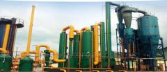 Industrial gasification plants