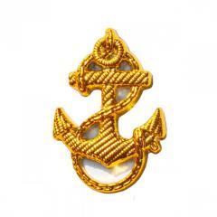 Эмблема Якорь (золотистый, пластик, 30 мм)