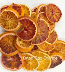 Dried red oranges (rings). Export from Iran