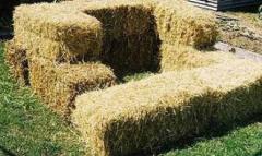 Солома-сено (50/50) (пшеница, трава). Цена (без