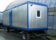Строительный вагончик на колесах