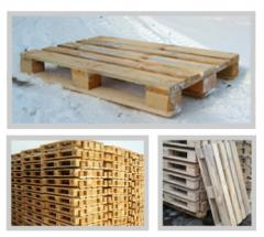 Pallets. Products wooden construction in