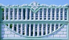 Fences concrete type-setting Brovara, the