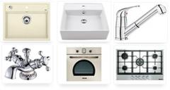 Сантехника и другие товары: кухонные мойки,