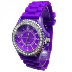 Женские наручные часы Geneva Crystal,фиолетового