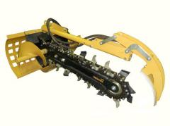 Mounted equipment for road construction machinery