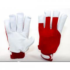 4289 Перчатки кожаные Driver
