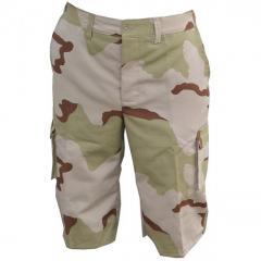 Camouflage shorts 3-color desert