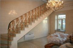 Перила лестничные декоративные