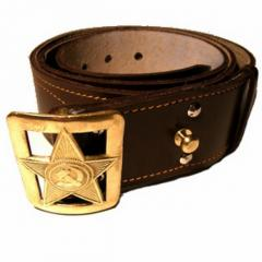 Belt RKKA (natural leather) brown