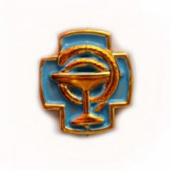 Эмблема вет-сан службы Украины (парадная, пластик)
