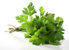 Parsley dried. Parsley. Dried greens. Spice plants and herbs ground