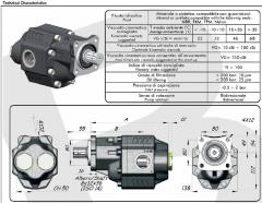 Насос шестеренчатый ISO (100 куб см) LTMH-100