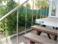Protections of balconies from stainless steel