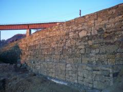 Gabions. Gabions for strengthening of the