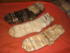 Изделия из пуха собак -носки