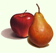 Apples fresh, pears