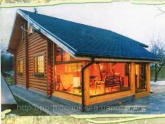 Деревянный дом из д-образного деревянного