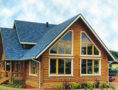 Деревянный дом из оцилиндрованного бруса.180кв. м