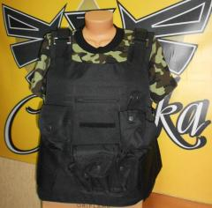 Bullet-proof vests for the security guard (without