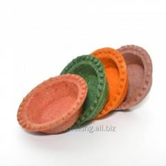 Tartlets of dough for salads 240 g. multicolored