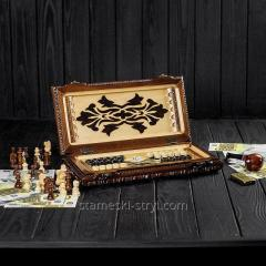 Exclusive sjakk - backgammon håndlaget Stryi, art.BB-08