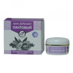 Добродея пантовый 7+ - крем для омоложения кожи лица и зоны декольте