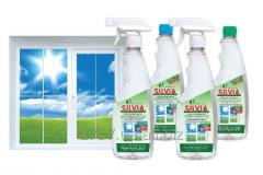 Средство для мытья стекол SILVIA (500 мл триггер,
