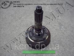 Вал привода моста середн. коробки роздавальної 260-1802174 КрАЗ