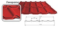Metal tile of KLAUDIA, GONORATA, professional